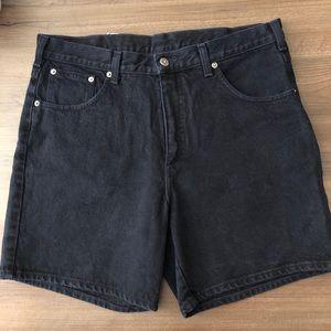 VINTAGE Black Jeans Shorts